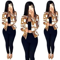 Women's jacket 2020 summer foreign style printed long sleeve British coat