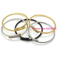 Women Mens Stainless Steel Cable Wire Chain 3mm Thin Cuff Bracelets Male Open Bangles Silver Or Gold Color Jewelry Link,