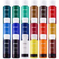 Conjunto de tinta acrílica de 18 cores grandes 18 * 59ml (2 oz) / 24Cors / 60 (22 ml) tubo para tela de madeira de lona, nail art, presente, pigmentos ricos não desbotamento, não tóxicas