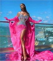 Abendkleid Jennifer Lawrence Kim Kardashian Kylie Jenner Myriam Tarife Bodennarme Sexualität Rosa Meerjungfrau mit Weg Spitze Schatz Kendaljenner Party