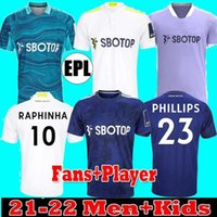 Поклонники Игрок Leeds Soccer Jersey United 21 22 Hernandez Poveda Bamford Alioski T.ROberts Raphinha Rodrigo M Llorente R 2021 2022 Мужчины Kids Kit Футбольная рубашка Униформа
