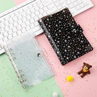Card Holders 1pcs A6 PU Leather Daisy Binder Zipper Bag Transparent Loose-leaf Cash Budget Handbook Planner Organizer For Office Supplies