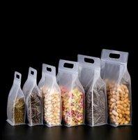 100 pcs Matte Clear Saco de Zíper Resealable Levante-se Bolsas Portáteis Engrossado Lanche Embalagem Carry Pack Bags Plástico Alimentos Saver Selable Storage