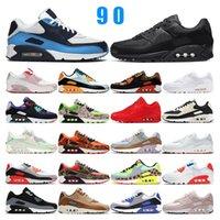 Новое поступление 90 кроссовок для мужчин, женщин, лазеров, розовых, тройных белых, черных, инфракрасных.nike roshe