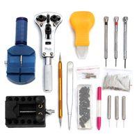 Juego de herramientas de reparación de 144 piezas, herramienta de abridor de reloj, kit de combinación de kits de herramientas