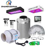 Cultivar luces LED Caja de carpa ligera 4/5/6 pulgadas Fábrica de filtro de carbón activado Conjunto de filtro de espectro completo Kit de cuántico interior