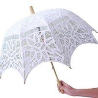 Autres accessoires YO Cho Mariée Mariage Parapluie Blanc Dentelle Parasol Party Decoration Bridal Douche Po Prop