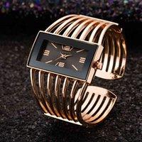 デザイナーの高級ブランドの時計女性ローズゴールドバングルブレスレットレディース長方形ドレス石英ESクロックバヤンコールサティ