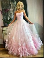Pink Long Prom Dresses Good Quality A Line Tulle With Flowers Holidays Party Gowns Tailor Made Plus Size Available