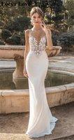 Other Wedding Dresses White Ivory Beach 2021 Summer Mermaid Tulle Bridal Gowns Elegant Appliques Lace Sleeves Formal Vestidos De Novia