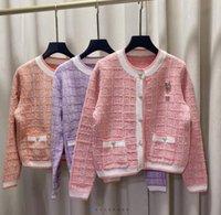Beautiful round neck sweater women Western style all-match knit cardigan jacket 1024