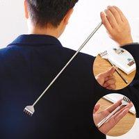 기타 가정용 잡화 1pcs 실용적인 편리한 휴대용 조정 가능한 스테인리스 펜 클립 다시 스크래러 텔레스코픽 포켓 긁는 마사지 도구 세트 ZWL703