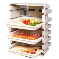 Tapestries Multi-Layer Drawer-Type Dishes Wall-Mounted Side Tableware Storage Tray Kitchen Organizer Stackable Plate