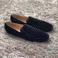 designer Famous Men's Pik Boat Dress Shoes Luxury Red Bottom Oxford Sneakers Slip-on Low Top Spikes Leisure Flats Party Loafer