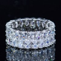 Hot Sell New 2019 Luxury Jewelry 925 Sterling Silver Drop Water White Topaz CZ Diamond Gemstones Women Wedding Band Ring for Lovers' Gift