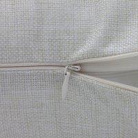 رقيقة فارغة التسامي وسادة الحالات الجملة البيج 100٪ البوليستر مثل أغطية وسادة الكتان تستخدم لحرارة نقل الحرارية الطباعة LLE6727