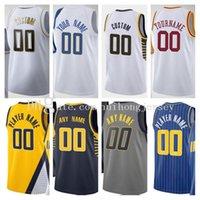 Personalizado 2021 Pantalla impresa Caris 22 Levert Domantas Basketball Jersey 11 Sabonis Malcolm 7 Brogdon Myles 33 Turner 1 Warren Man Jerseys
