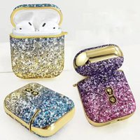 Luxlury Designer Airpods Cases For Apple Air Pods 2 1 Pro Shiny Glitter Bling Earphone Protective Cover Case Fundas Coque