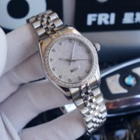 Women Mechanical Automatic Watch Ladies Watches 35mm Gold Diamond Inlay Fashion Wristwatch Montre de Luxe