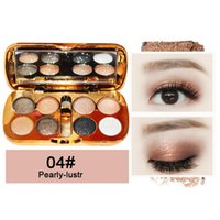 Eye Shadow Glitter Eyeshadow With Brush Face Makeup Cosmetics Shiny Palette 8 Colors For
