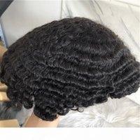 Prezzo di fabbrica all'ingrosso di alta qualità 100% indiano capelli umani toupee per uomo nero Uomo Afro TOUPEE