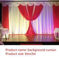 Décoration de fête Fond de mariage arrière-plan de mariage 6m / 20ft (W) x 3m / 10ft (h) accessoires de rideaux de rideau décor de voile