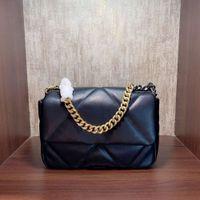 Brand Luxury Chain Designer 19 Gold Series Bag Leather Flap Women's Fashion Shoulder Mutton Clutch Single Purse Xlucg