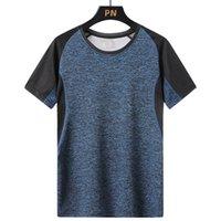 Big Size 7XL 8XL Quick Dry Sport T Shirt Men Summer Casual O-Neck Short Sleeve Fitness Tee Sportwear GYM Joggers Running T-Shirt