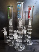 "Üç Katmanlı Petek Abblets Filtre Bongs Recycler Su Borusu Cam Bong Sigara Boru 12.5 ""inç Su Borusu 18.8mm Eklem"