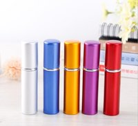 5ml Perfume Bottle Aluminium Anodized Compact Perfum Atomizer Fragrance Scent-bottle Travel Refillable Makeup Spray Bottles
