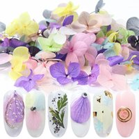 Mixed Dried Flowers Nail Art Decoration Colorful Natural Blossom Floral Stickers 3D Summer Designs Manicure Accessories SA15051