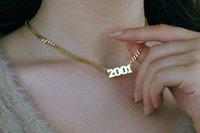 Kundenspezifischer Name Halskette personalisiert für Frauen Mädchen arabische Schriftart Sterling Silber Edelstahl Gold Farbe Alle Namen Monogramm Initialen Halsketten