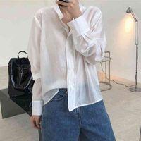 Женские блузки рубашки женские хлопчатобумажные блузки негабаритные свободные нормокольные минималистские вершины вершины 53q9