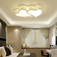 Ceiling Lights Creative Romantic Heart-Shaped Led Light For Bedroom Lamp Study Room Lighting Boy Children Girl E27