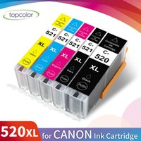 TRACCOLOR 520 521 Cartucho de tinta Reemplazar Canon PGI520 CLI521 Cassette para PIXMA MX870 MP540 MP550 MP560 MP630 990 IP4700 Cartuchos