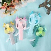 Electric Fans Sheep Cartoon Hand Pressure Children Small Hold Children's Interesting Manual Fan Gift Advertisement Auricular