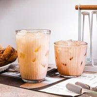 Jankng Origami Style Tea Transparente Taza Taza Cerveza de hielo Copa de cristal resistente al calor Tazas de jugo de leche creativa Tazas
