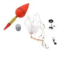 Flotte de la carpe Flotte Bobber Sets Float de mer avec six crochets d'explosion forts Capitales d'explosion En plastique Kit Tools Accessoires