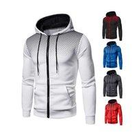Fashion Men Casual Zipper Hoodies Spring and Autumn Male Sweatshirts Oversize Outwear Et Windbreak Sportswear Hooded Coat