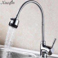 Смесители раковины ванной Chueqin Chrome Swivel Кухонный кран Современный бассейн смеситель сплавов холодно и вода