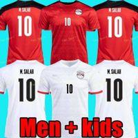 Top Thailandia Qualità 20 21 Egitto Soccer Jersey National Team Home Away M.salah Football Kit Top Maillot de Foot Salah # 10 Camisetas de Futbol
