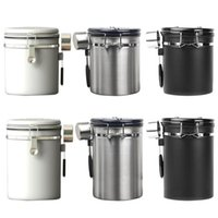 Storage Bottles & Jars Coffee Canister Stainless Steel Beans Container With Scoop