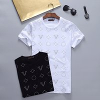 Summer Mens T Shirt Casual Man Womens Loose Tees With Letters Print Short Sleeves Fashion Men Shirts Size M-XXXL w484