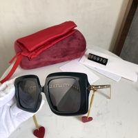 المرأة النظارات الشمسية ادومبرال النظارات الشمسية إمرأة شاطئ سلسلة الأزياء نظارات uv400 2 لون نوعية جيدة مع مربع