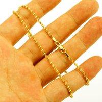 Jhlplated Äthiopische Kette Halsketten für Frauen / Männer Gold Farbe Mode Afrika Schmuck Großhandel Ketten