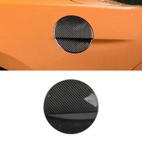 For Ford Mustang 2015-2021 Carbon Fiber Auto Car Accessories Fuel Oil Gas Tank Cap Trim Pad Cover Frame Sticker Decoration