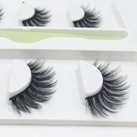 False Eyelashes 3 Pairs Faux Mink Natural Looking Makeup 3d Lashes Cruelty Free Wispy Silk Reusable Cosmetic