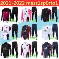 21/22 Crianças Paris Hoodie Travelsuit Survection 2021 Chandal Futbol Mbappe Jaqueta De Futebol Soccer Set