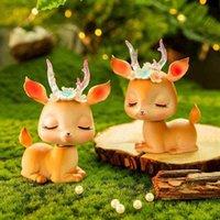 Creativo adorabile Deer Bambini Layout Letto Soggiorno Decorazioni per la casa Ornamenti auto cartone animato