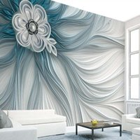 Wallpapers 3d Creative Embossed Abstract Flower Stripe Line Po Wallpaper Art Wall Decor Home Papers Mural Murales De Pared